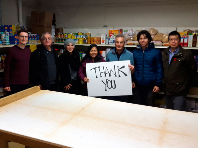 Churches on-the-Hill Foodbank volunteers